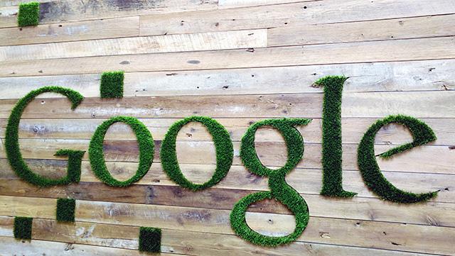 Google Grass Signage