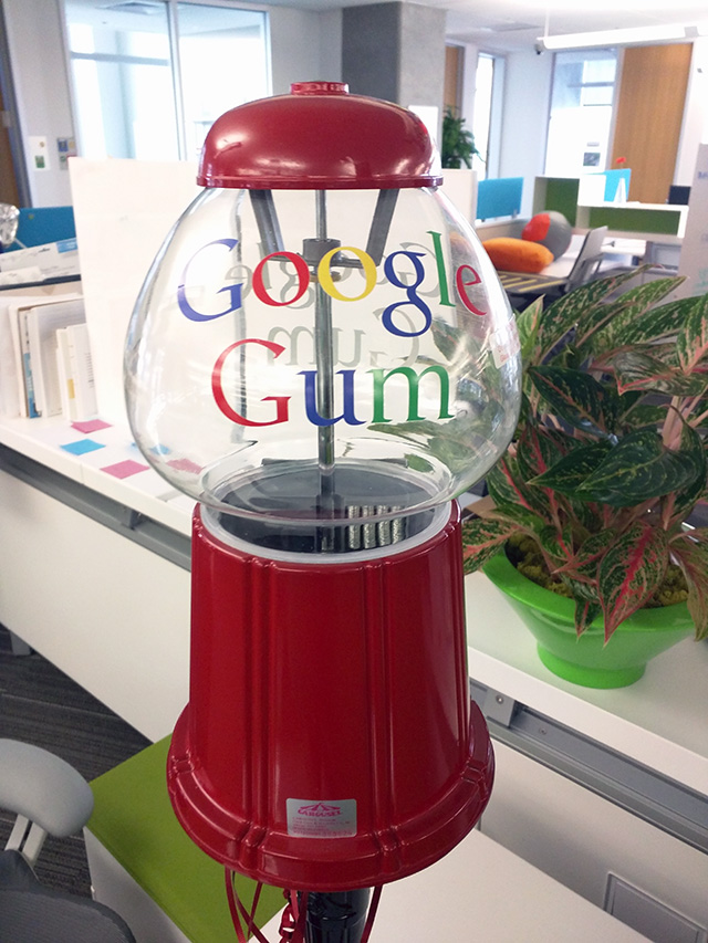 Google Gum Ball Machine Without Gum Balls