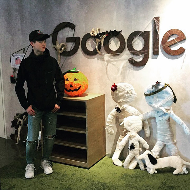 Google Office Getting Ready For Halloween
