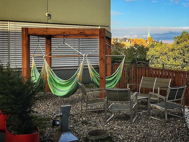 Google Zurich's Outdoor Spot With Hammocks