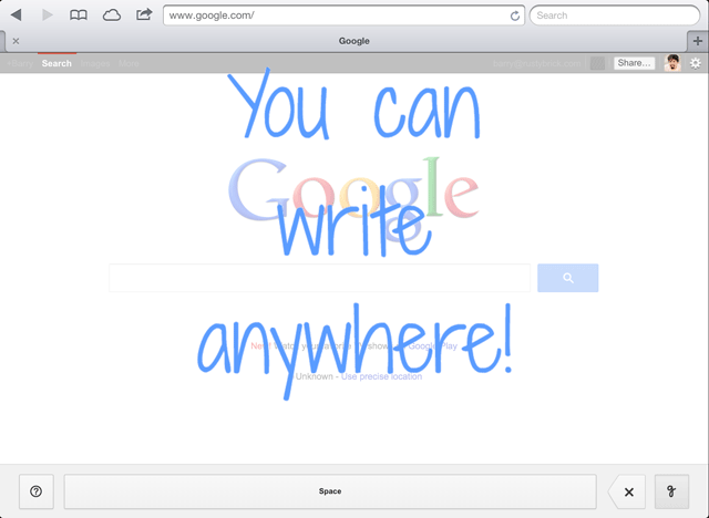 Google Handwrite Search