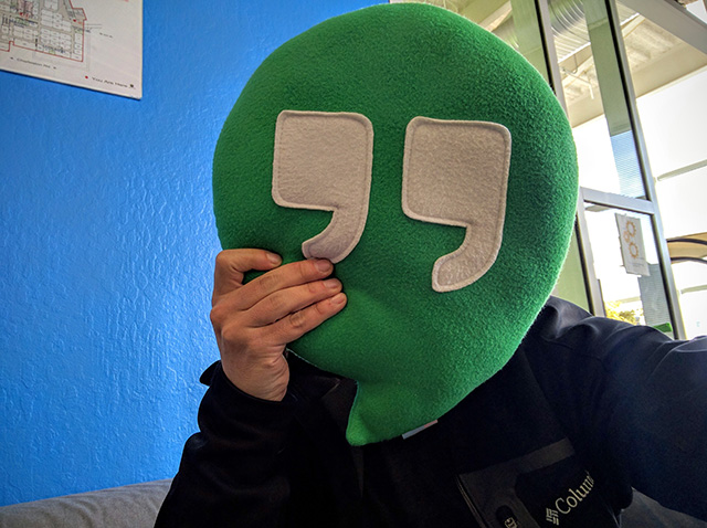 Google Hangouts Pillow Selfie