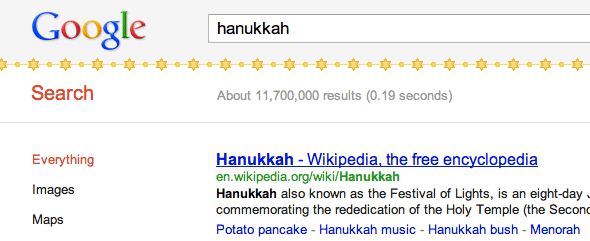 Google's Chanukah Decorations
