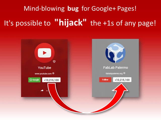 Google +1s hijack