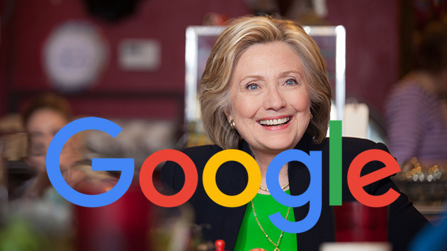 Google responds to accusations of manipulating searches for Clinton