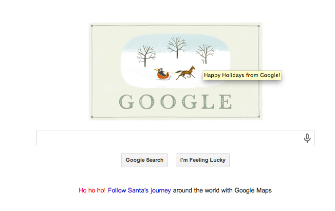 Google Happy Holidays 2013 Logo