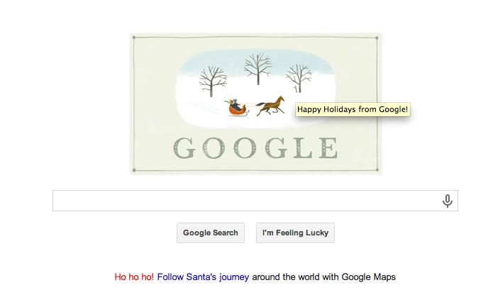 Google Happy Holidays 2013 Logo