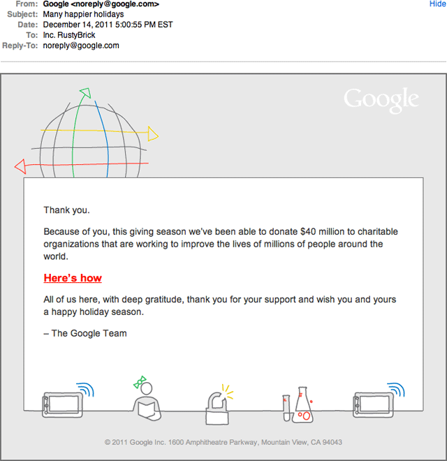 Google - Happy Holidays Gift