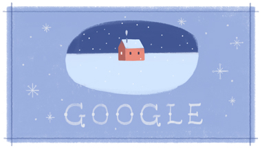 Google Post Christmas Logo