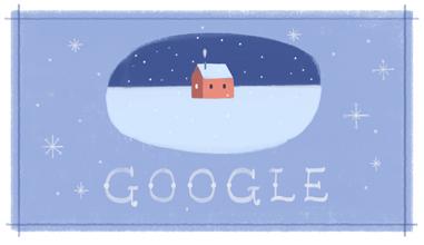 Google Post Christmas Logo