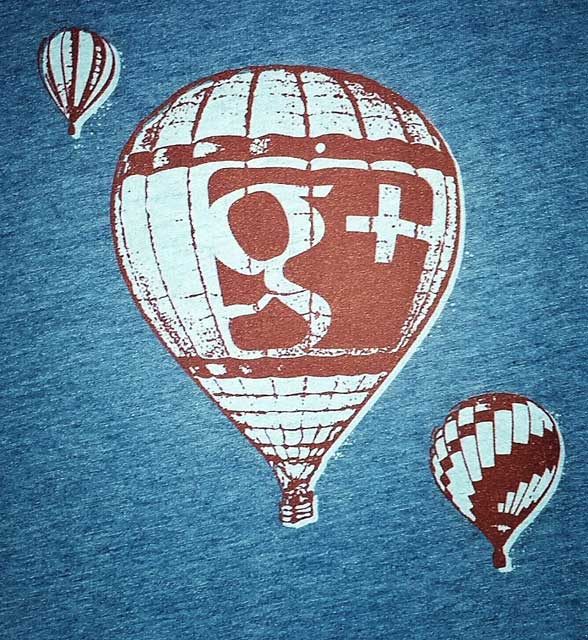 Google+ Hot Air Balloon Shirt