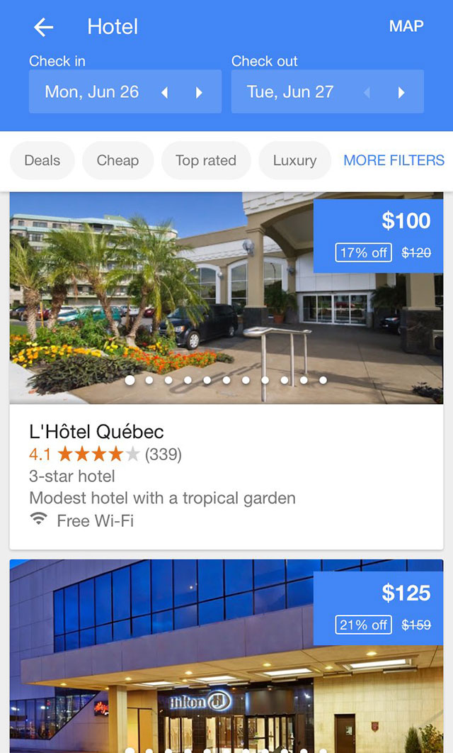 Google Tests Large Swipeable Images For Hotel Listings