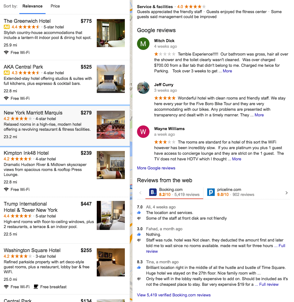Google Adds Hotel Reviews From Other Sources Including Booking