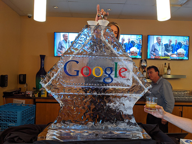 Google Ice Sculpture Drinking Fountain