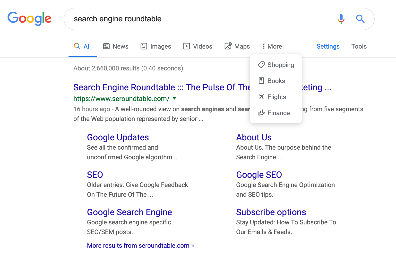 Google Launches New Search Menu Bar With Icons