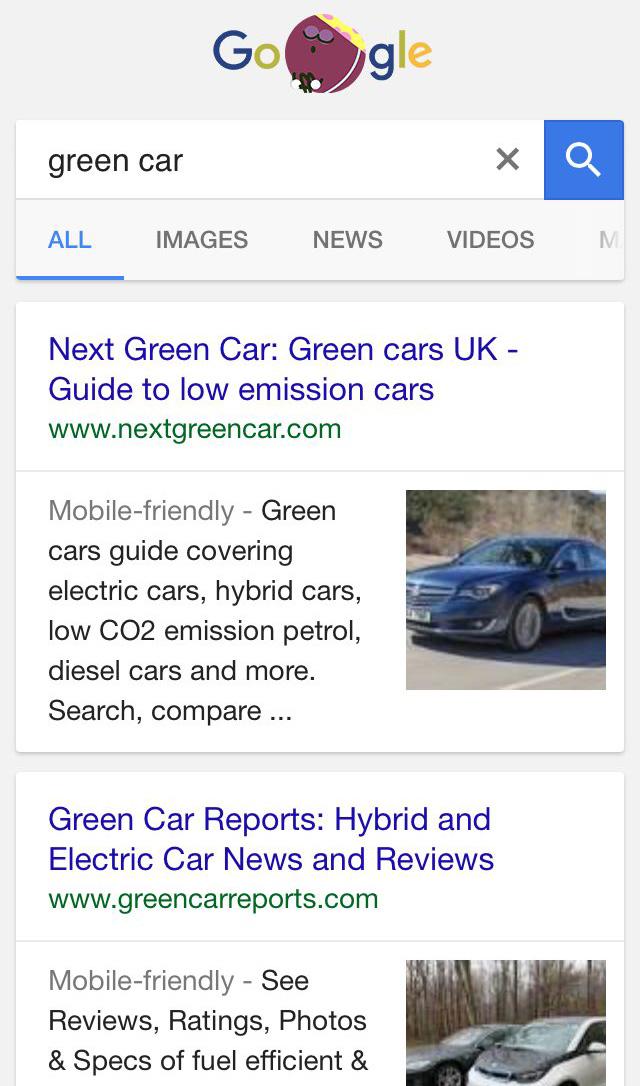 imagen en miniatura en los resultados de búsqueda de Google