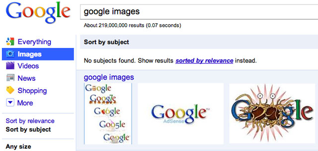 Google Images Subject Fail