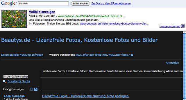 Google Image Result Test in Germany