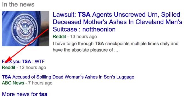 Google New In The News Reddit FU