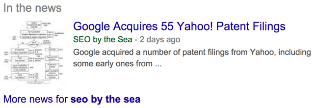 Google New In The News SEO By The Sea