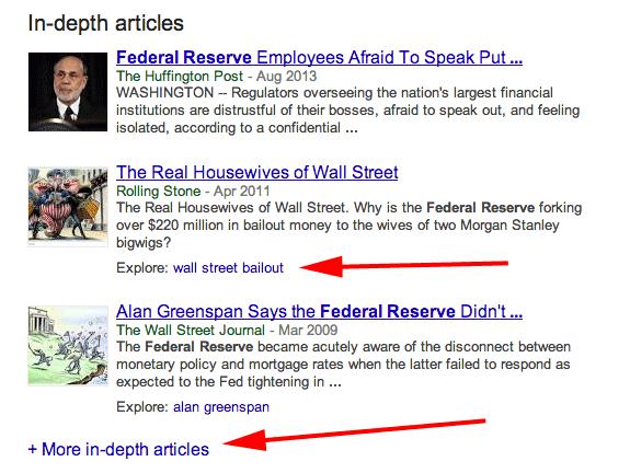 Google In-Depth Articles
