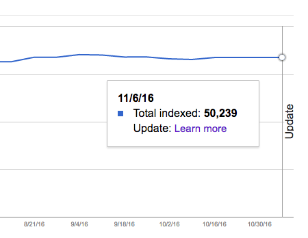 Unknown Google Search Index Status Report Update