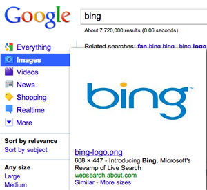 Google Copying Bing