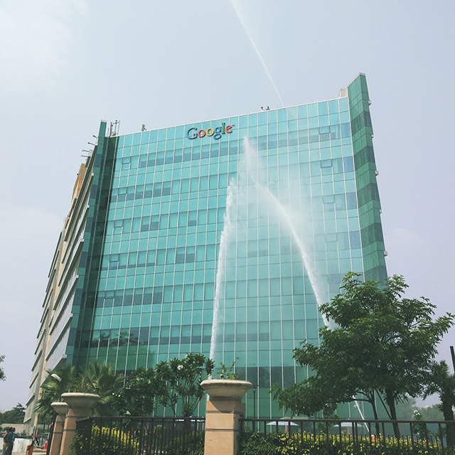 Washing The Google India Office Building