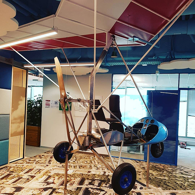 Google Indoor Office Airplane