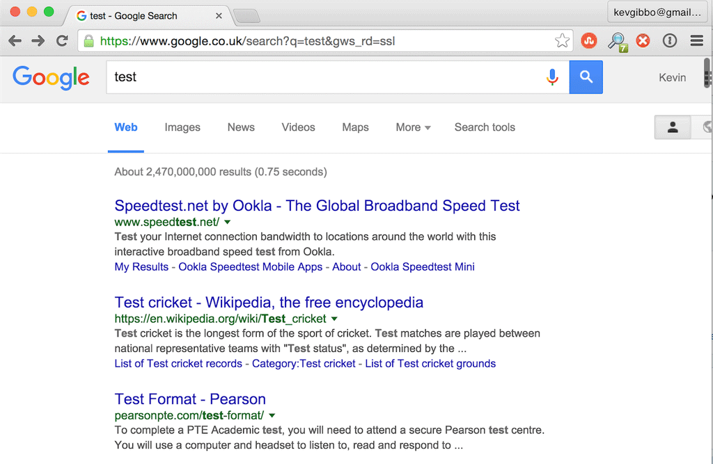 Google Testing Infinite Scroll Web Results
