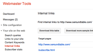 Google Internal Links