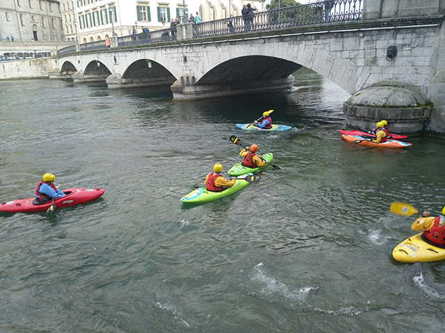 Google Interns Canoeing In Zurich