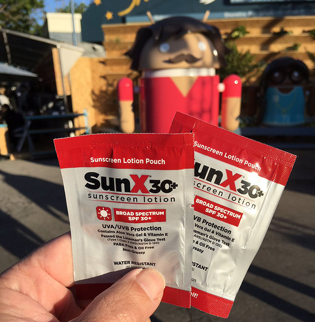 Google I/O Sunscreen Packets