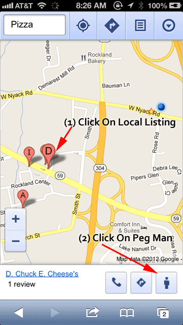 How To Use Street Views Peg Man On Google Maps Mobile iPhone