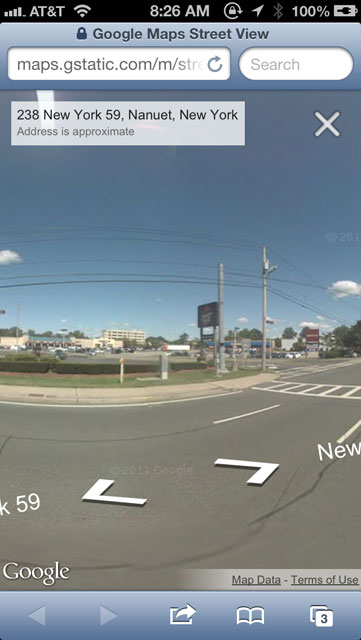 Google Maps Street Views On iOS