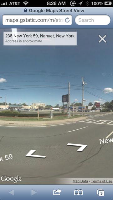 Google Maps Street Views On iOS