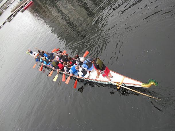 Google Racing In Irish Dragonboat