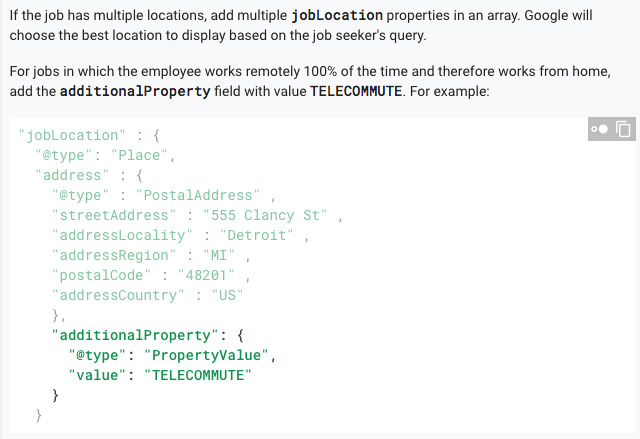 Google Job Schema Adds Markup For Telecommuting