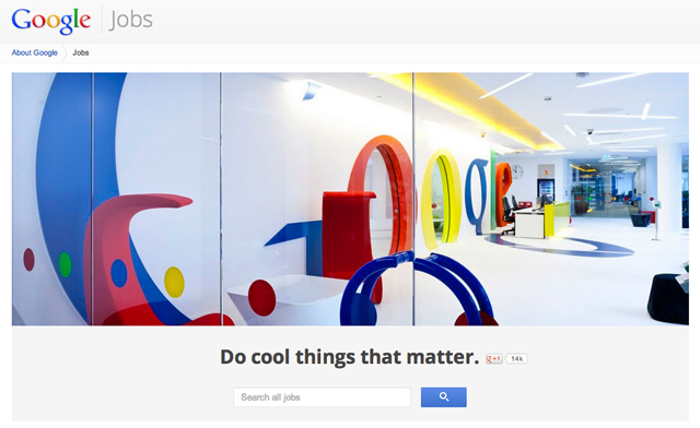 Google Upgrades Their Jobs Section