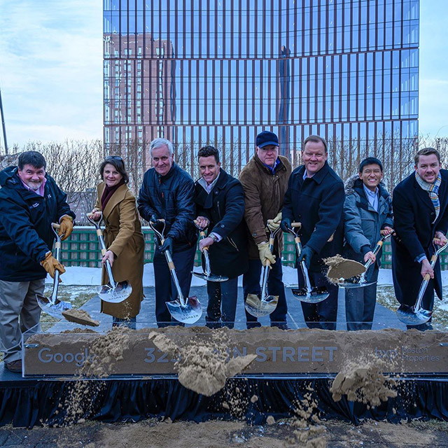 Google Kendall Square Ground Breaking - Boston