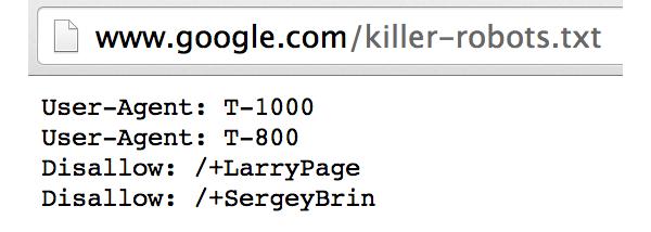 Google Killer Robots.txt