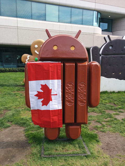 Android KitKat Canadian Flag