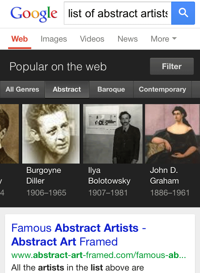 Filters Added To Google Knowledge Graph