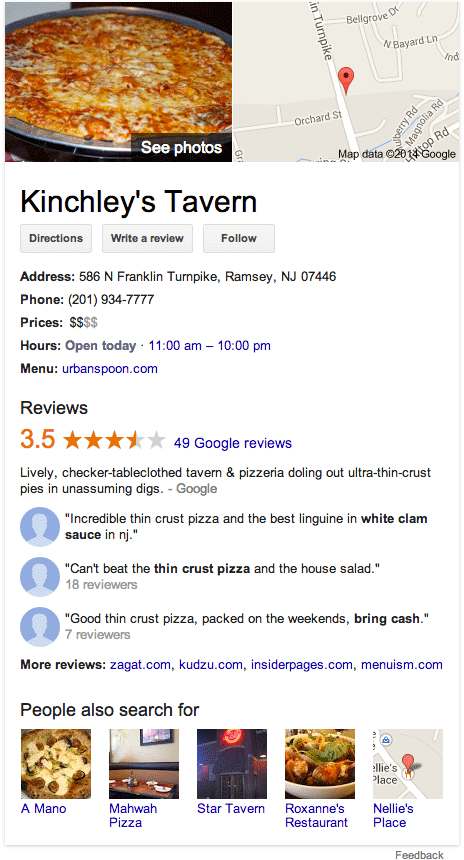 Full Reviews In Google Knowledge Graph