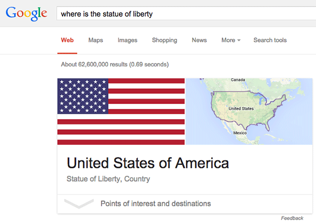 google- where is the statue of liberty