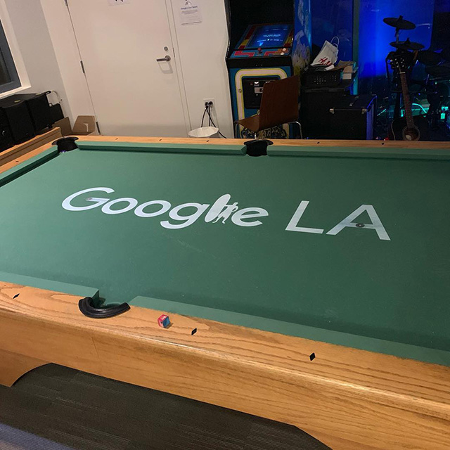 Google Surfboard LA Pool Table