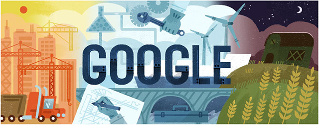 Labor Day Google Doodle, Bing Theme & More