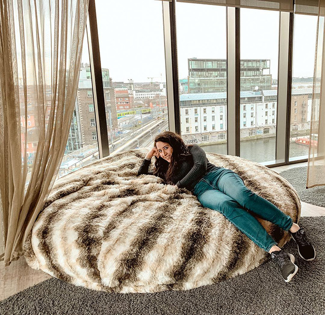 Google Large Fluffy Bean Bag