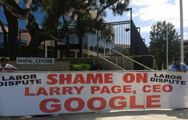 Protesting Larry Page At Google Irving