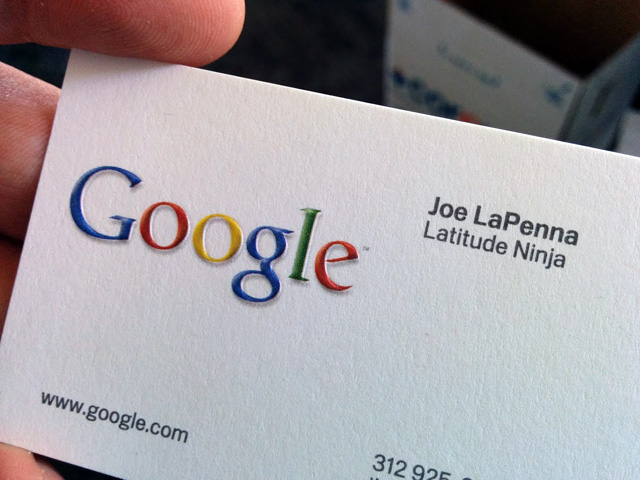 Googlers Latitude Ninja Business Card